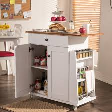 Kitchen Cart With Storage crosley white kitchen cart with stainless steel top kf30052wh