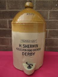 vintage stoneware 2 gallon tap jar h sherwin kedleston road
