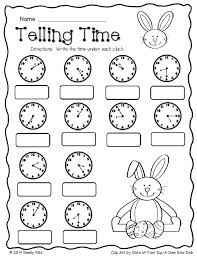 easter math telling time free second grade math 2 md 7 tell