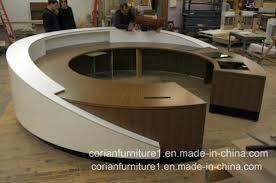 Corian Reception Desk China Modern Wood Solid Surface Corian Office Reception Desk