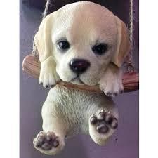 arts rocking golden labrador puppy ornament petpals