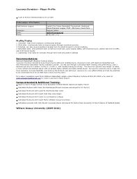 Basketball Resume Laurence Donelson Player Profile Old Resume