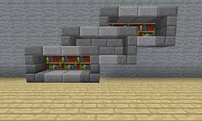 minecraft furniture storage extended stone abstract bookshelf