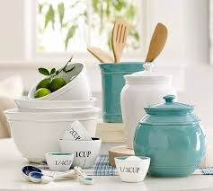 pottery canisters kitchen cambria canister medium kitchen canisters