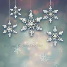 aliexpress buy 4 5cm 24pcs acrylic snowflake 3d solid