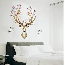 home decor 3d stickers cartoon deer diy vinyl wall stickers for kids rooms home decor art