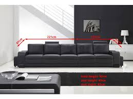 canapé 5 places grand canapé droit en cuir pleine fleur fabio 5 places option lit co