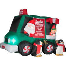 Inflatable Firefighter Christmas Decorations by Inflatable Santa Clause Christmas Decor Walmart Com