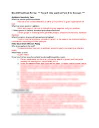 mic 224 final exam review docx medical microbiology 224 with