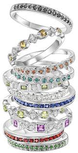 stackable birthstone ring stackable birthstone rings thin band small diamonds like the