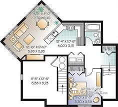 house plans with apartment multi family plan w2797b detail from drummondhouseplans
