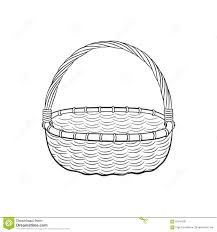 drawn basket outline pencil and in color drawn basket outline