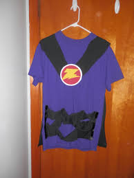 diy zurg costume cape and belts made from t shirt my