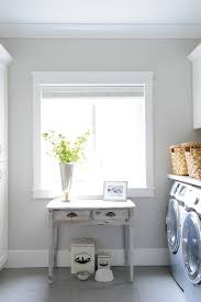 Farmhouse Console Table Gray Laundry Room With Gray Distressed Farmhouse Console Table