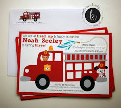 fire truck invitations more than 9 to 5 my life as