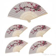 personalized wedding fans personalized wedding fan in box organza bag plum blossom flower
