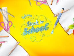 welcome back to school greeting card eps 10 stock vector image
