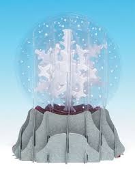 buy greeting card pop up 3 d snow globe