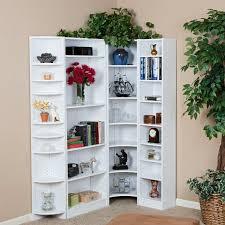 White Corner Bookcase Choosing The Best Of Corner Bookcase Design Colour Story Design