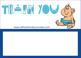 free baby shower thank you notes and cards