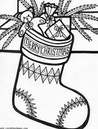 christmas stocking coloring page get coloring pages