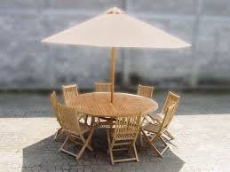 umbrella table and chairs round teak table 8 chairs and umbrella set