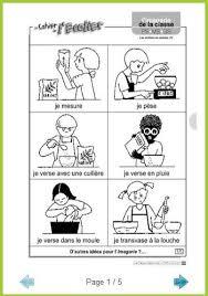 verbe de cuisine imagiers d actions en cuisine wazo2fleu