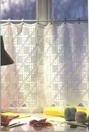 Crochet Kitchen Curtains by Stupendous Window Valance Patterns Crochet Curtain Kitchen