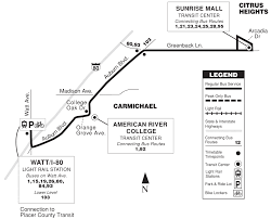 Folsom Outlets Map Citrus Heights Sacramento Regional Transit