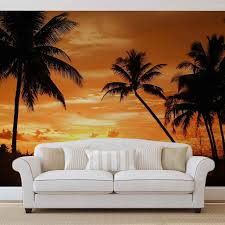 beach tropical sunset palms photo wallpaper mural 888wm beach tropical sunset palms photo wallpaper mural 888wm consalnet partner portal