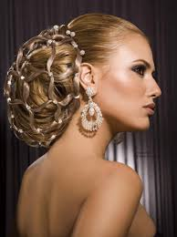 wedding hair using nets striking and elegant hair up style for women with long hair