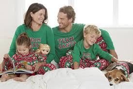 create a tradition with matching jammies for your families
