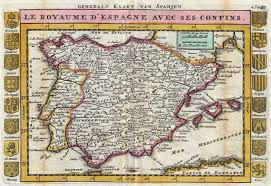 Map Of Spain by File 1747 La Feuille Map Of Spain And Portugal Geographicus