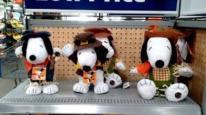 snoopy fall thanksgiving animated plush toys