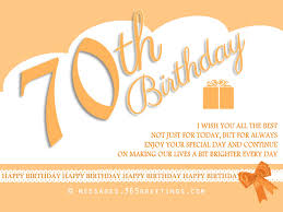 Samples Of Birthday Wishes 70th Birthday Wishes And Messages 365greetings Com