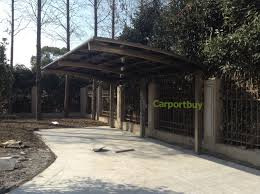 luxury single car carport for sale aluminum alloy frame and poly