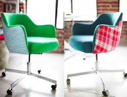 Colored Desk Chairs Design Ideas Colorful Office Chairs Customizing Vintage Chairs Emily Henderson