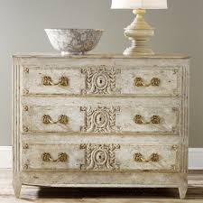 Painted Bedroom Dressers by Modern History Home Carved And Painted Three Drawer Dresser