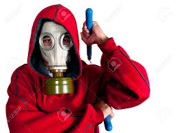 halloween gas mask costume vigilante costume stock photo picture and royalty free image