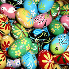 painted wooden easter eggs center wooden easter eggs pastel designs