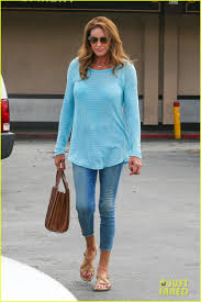 jenner sweater caitlyn jenner puts bra on display in a sheer sweater photo