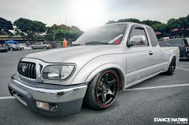stanced toyota stanced pickup truck true driving