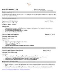Financial Analyst Resume Example by Awesome One Page Resume Sample For Freshers You U0027re Hired