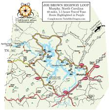 Brown Line Map Joe Brown Hwy Tail Of The Dragon Maps