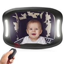 baby car mirror with light joyren led baby car backseat mirror shatterproof car mirror with