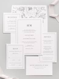 sts for wedding invitations glam monogram wedding invitations envelopes floral and modern