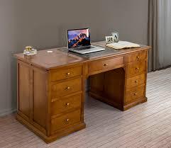 bureau louis philippe merisier superbe bureau ministre 9 tiroirs en merisier de style louis
