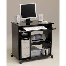 bureau informatique noir city bureau informatique classique noir mat l 76 cm achat
