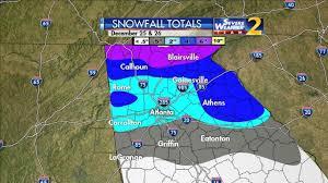 Snowfall Totals Map North Georgia Snow Totals Wsb Tv