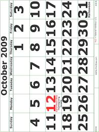 fdfspofu 2009 october calendar